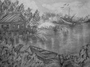La cabane au bord du lac..