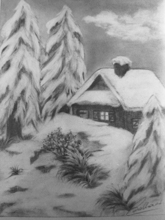 Paysage de neige.. Janéon Janeon