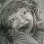 Portrait de petite fille. Janeon