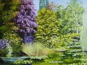 Le jardin de monet à Giverny. Daniel Anquetil