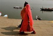 Pélerin, Benares (Kashi) Varanasi, India.