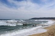 Vent d'est sur la plage de Pampelonne.