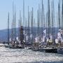Retour de régate dans le port de Saint Tropez pendant la Rolex Cup 2011.. Arnaud Bressange