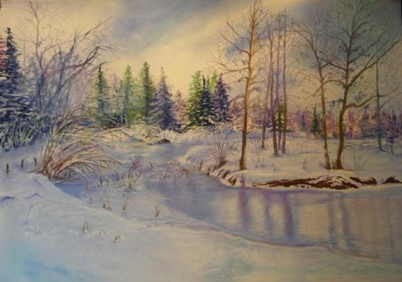 L'étang gelé. Emmapage Emma Pages