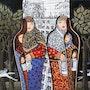 In - Out - Grand Art originale mur Mixed Media Artwork Peinture. Yelena Art Studio