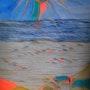 Amours lointains acrylique sur papier. Chriskaliko