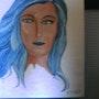 La femme aux cheveux bleus. Chriskaliko
