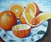 Orangen vorm Verzehr. Rüdiger Faller