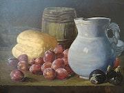 Nature Morte - Fruits Pain et Cruchet. Dominique Nadal