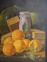 Nature Morte - Oranges et Pastèques. Dominique Nadal