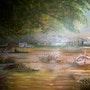 Marecage, dans la nature, et son maree. Peintre Amateur