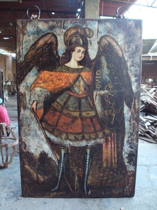 Pinturas en placas de madera. Omar Barrientos Omar Francisco Barrientos