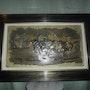 Tableau de fantasia en relief cuivre et gouache. Almmaghribi
