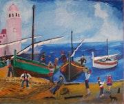 Collioure, départ de pêche.