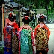 Trois geisha.