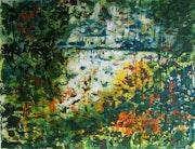 «Rêve», est une acrylique qui représente un paysage imaginaire. Christiane Foray