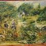 Le jardin de Fontenay aux roses du peintre A. Renoir reprduction. Jean-Claude Kempczynski