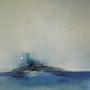 L'île huile sur toile. Arielle Thomas