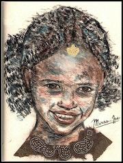 Portrait d'une petite Africaine au sourire.