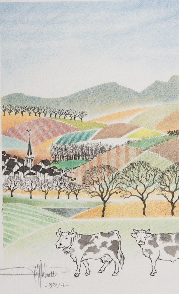 Deux vaches.  Philippe Sabardu