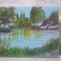 La nature en plaine mer. Peintre Amateur