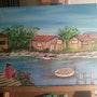 La dame et la mer. Peintre Amateur