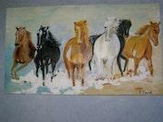 Les chevaux de camargue. Francoise Taouk