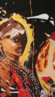 Maasai und das Aussehen des Lion.