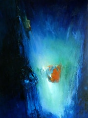 Big Blue oil on canvas.