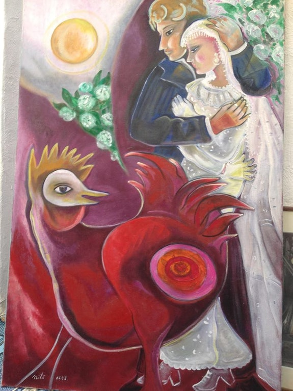 The red rooster and egg.  Nité