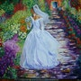 The bride of Giverny. Nelly Técher Fauconnier