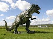 Dinosaurier, Tyrannosaurus, Skulptur. Nicolas Maldonado