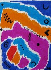 Jardin d'enfants 2 (carte postale). Véronique Romance