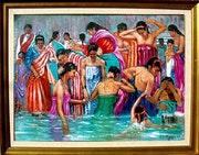 Baño en el Ganghes. Lucy Henriquez