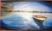 Boat dusk.