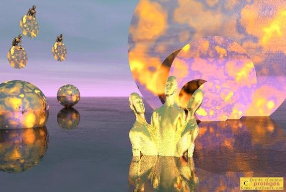 Landscape Plasma 143 - On an operatic aria -. Micheline Laufer Lauferartsuisse