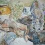 Die Katze im Kräutergarten. Althéia - Martine Vinsot