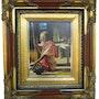 Oleo sobre lienzo, con precioso marco Artistico de Livia Alencar. Piper
