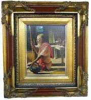 Oleo sobre lienzo, con precioso marco Artistico de Livia Alencar.
