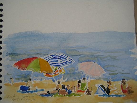 Schwimmer. Caroline Queniart Carod'art