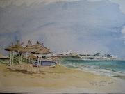Beach Sousse (Tunesien).