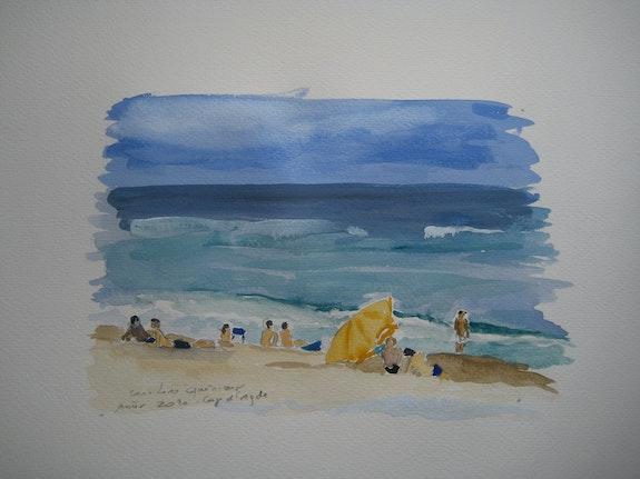 Badenden Beach Pier. Caroline Queniart Carod'art