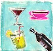 Drinks-Playing an original monotype.. K-Tea