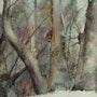 Tree trunks dreamers. André Farnier
