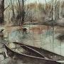 Barcos sobre el agua. André Farnier
