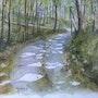 Chemin en sous bois. André Farnier