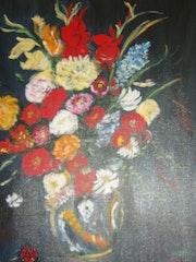 Grand bouquet dans vase en faïenceI.