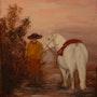La pintura al óleo Camargue. Claire Limozin