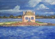 Pequeña casa de San Cado (Morbihan).