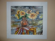 """""""Vase with Sunflowers""""."""